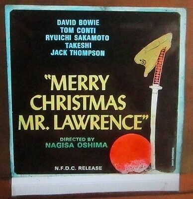 """Merry Christmas Mr. Lawrence (1983) David Bowie 3"""" x 3"""" glass slide"""