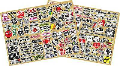 SET 1 plus 2 RC Model Car Drift JDM stickers Decals printed onto vinyl pre cut