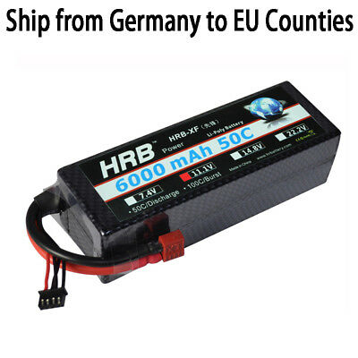 HRB 3S 11.1V 6000mah 50C 100C Lipo Battery  Hard Case for rc Car Boat Helicopter