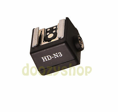 New Flash Hot Shoe PC Sync Socket Adapter for Sony Minolta DSLR Camera