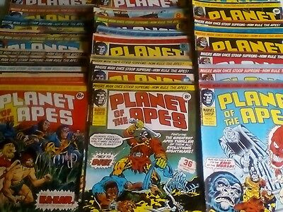PLANET OF THE APES  x62 ISSUE LOT. MARVEL UK.