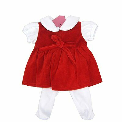 Highmall-uk 16 Inches High Simulation Baby Doll''s Clothes Velvet Material Dress