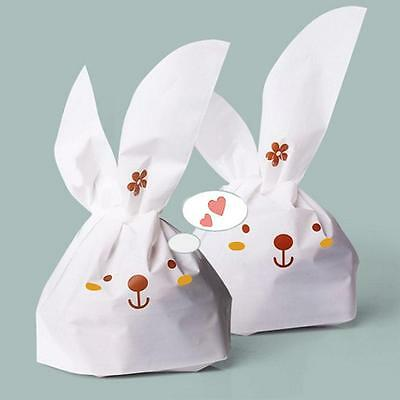 Fashion 50Pcs Kawaii Rabbit Plastic Style Bags Birthday Items Candy Bags Party *