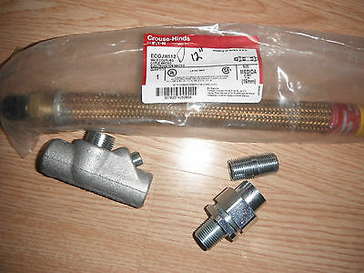 """CROUSE-HINDS ECGJH112 1/2"""" x12""""-EXPLOSION PROOF/WITH -SEAL OFF- UNION- NIPPLE"""
