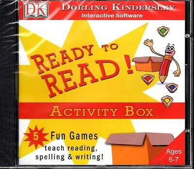 DK: Ready To Read Activity Box (Ages 6-7) (CD, 2005) Win/Mac - NEW CD in SLEEVE