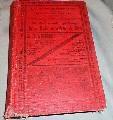 Original 1921 Newburgh Ny  City Directory With Residents Listed