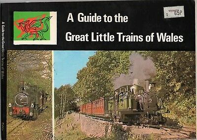 Railways A Guide to THE GREAT LITTLE TRAINS OF WALES Paperback 1st Edition 1976