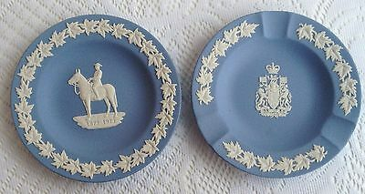 2 Wedgwood Dishes - Royal Canadian Mounted Police/Canada Coat of Arms 30a