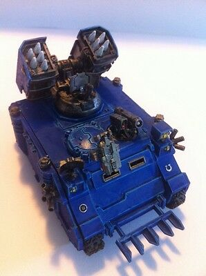 Warhammer 40k Space Marines Ultramarines Army Very Well Painted Whirlwind Tank