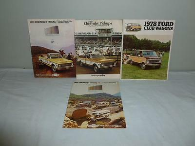 1971 & 1972 Chevrolet Truck & Recreational Vehicle Dealer Brochures and 1 Ford