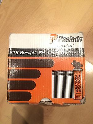 Paslode impulse f16 straight brad fuel pack nails for nail gun new 1500
