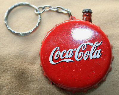 VINTAGE EXTREMELY RARE COCA COLA LIGHTER BOTTLE CAP KEYCHAIN Coca-Cola working !