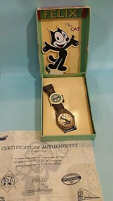 Felix The Cat Limited Edition Collector's Fossil Watch - as is FAST SHIPPING!