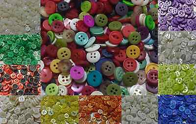 Mixed Buttons Assorted Shapes Sizes Heart Square Art Craft Sewing Card Scrapbook