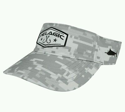 Pelagic Fishing Digital Camo Grey Ambush Visor II One Size NWT