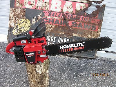 Vintage Chainsaw Homelite Super XL Big Red MInty Low Hour See Video