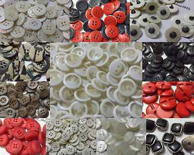 Mixed Buttons Assorted Shapes Sizes Art Craft Sewing Card Scrapbook Dress Making