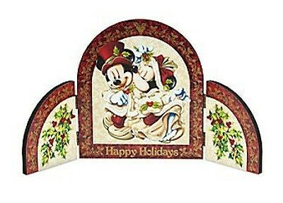 Disney Parks Mickey and Minnie Mouse Victorian Holiday Triptych New In Box