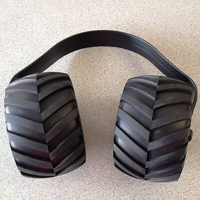 Monster Truck mini Tire Ear Muffs Hearing Protection Kids Adults RC Novelty