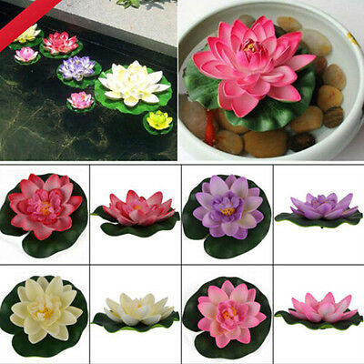 Water Lily Lotus Floating Flower Garden Pool Pond Tank Plant Ornament Best