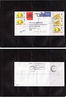 Swaziland Kwaluseni Registered Express Cover to Johannesburg South Africa 1995