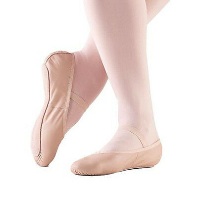 SoDanca BALLET SLIPPERS ~  Toddler 10 ~ Full Sole Leather Unisex EU 27 Pink