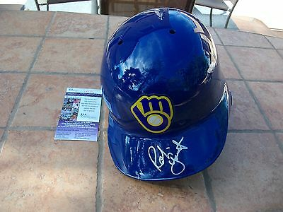 Robin Yount Signed Authentic Milwaukee Brewers Batting Helmet Jsa Coa