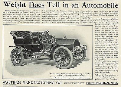 1905 Waltham Orient Car Automobile Original Print Ad