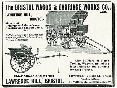 1906 Bristol Wagon & Carriage Works Vintage Original Print Ad