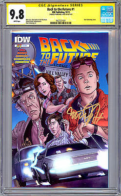 Back To The Future #1 Cgc-Ss 9.8 Signed By Orig Movie Actor Michael J. Fox 2016