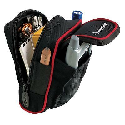 NEW 4-in Durable Husky Construction Tool-Belt Pocket Pouch Bag Holder Pack Clip