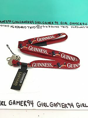 "Guinness Beer Offical Merchandise - 19"" Lanyard with ID/Badge Holder/Clip - New!"