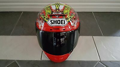 Shoei X-Twelve Bautista Red/White Motorcycle Size M Helmet With Spare Visor