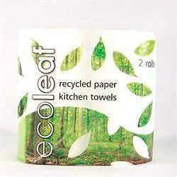 12 Packs of Suma Ecoleaf 3 Ply Kitchen Towel Twin roll pack