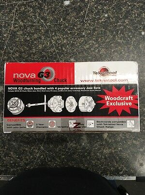 Nova G3 Woodturning Chuck - With 4 Popular Accessory Jaws
