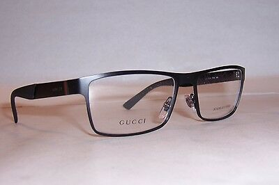NEW GUCCI EYEGLASSES GG 2228 GG2228 PDE BLACK 55mm RX AUTHENTIC