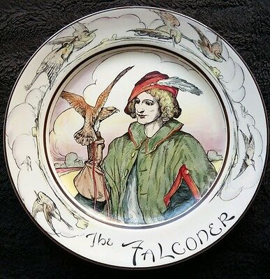 """Rare,vintage! Royal Doulton """"the Falconer"""" 10½""""  Collectable Plate."""