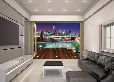 Brooklyn Bridge NYC View Collection Walltastic Wallpaper Mural 501/8781