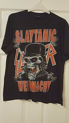 Mens T-Shirt Top - Slaytanic Wehrmacht World Tour 1989 - VERY RARE - Slayer - M