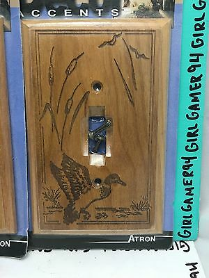 Wooden Duck Light Switch Plate Cover BY Decor Accents - Atron - Laser Art