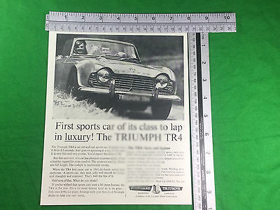 Triumph TR4 advert from 1963