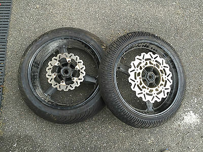 Yamaha YZF R1 5JJ 2001 2002 01 02 - Front Rear Wheel Wheels Pair