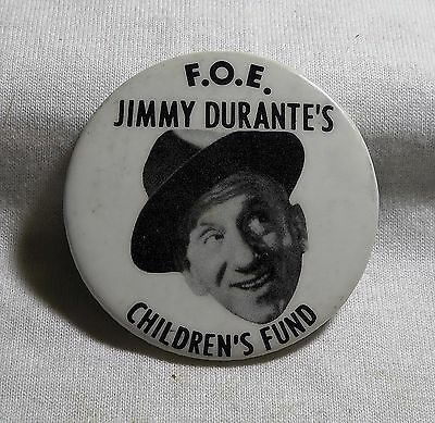 An Old F.o.e. Jimmy Durante's Children's Fund Pinback Button