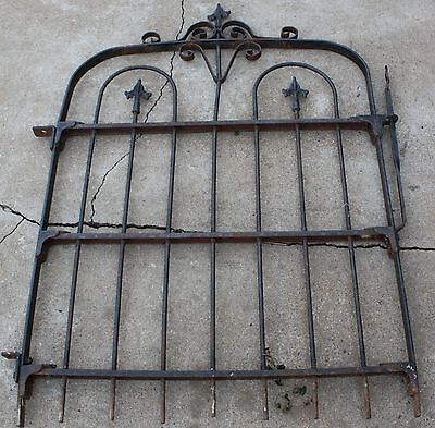 vintage, wrought iron, garden fence gate. maybe antique.