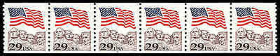 US #2523d Pl. 6  29¢ Flag PS6 PNC6, almost VF, NH MNH, solid tagging