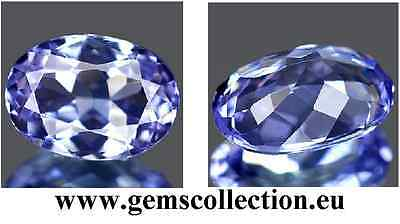 Aaa Tanzanite  Ct 0.80 If Oval Cut Origin Tanzania Very Good