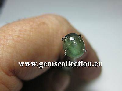 Aaa Zaffiro-Sapphire Ct 1.58 Green Color Oval Cabochon  Very Good