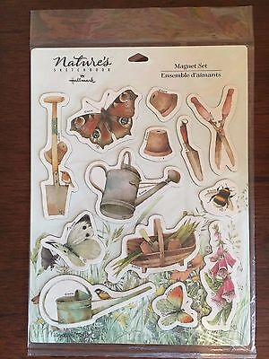 Marjolein Bastin Nature's Sketchbook Magnet Set, Hallmark, 13 Garden Magnets