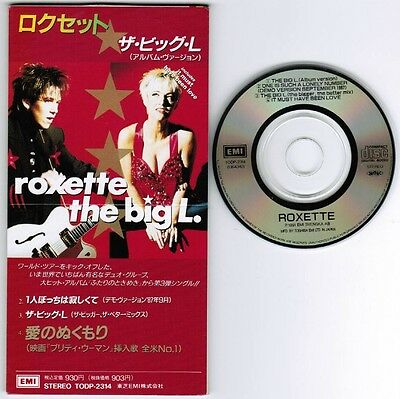"ROXETTE The Big L. /One is../It Must..JAPAN 4-track 3"" CD TODP-2314 Unsnapped"