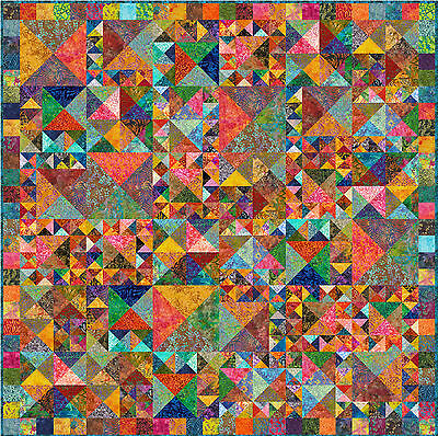 "ULUWATU - Batik - 79"" - Pre-cut Quilt Kit by Quilt-Addicts Double size"